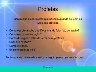 Profetas