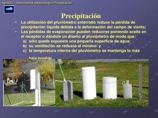 Agm620 – Instrumental meteorologico-Precipitacion
