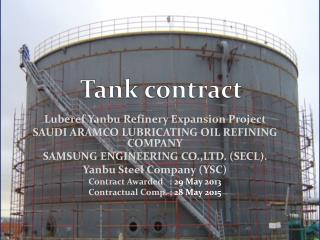Tank contract