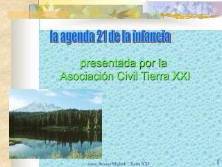 presentada por la  Asociación Civil Tierra XXI