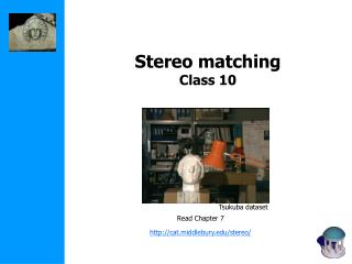 Stereo matching Class 10