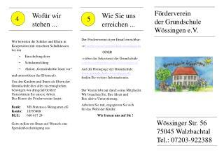 Förderverein  der Grundschule Wössingen e.V.