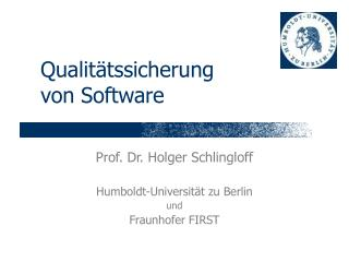 Qualit�tssicherung von Software