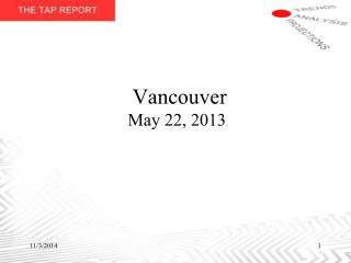 Vancouver May 22, 2013