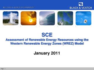 SCE Assessment of Renewable Energy Resources using the Western Renewable Energy Zones (WREZ) Model