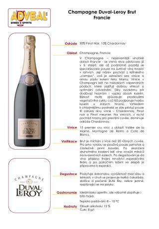 Champagne Duval-Leroy Brut Francie