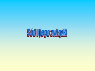 Sód i jego związki