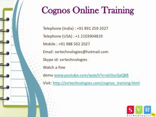 Cognos Online Training Hyderabad