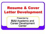 Resume  Cover Letter Development
