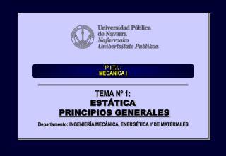 1� I.T.I. :  MECANICA I