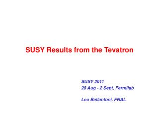 SUSY Results from the Tevatron