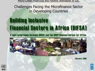Micro-Credit Financing and Poverty Alleviation in OIC Challenges Facing the Microfinance Sector in Developing Countries