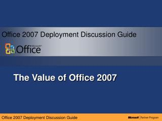 The Value of Office 2007