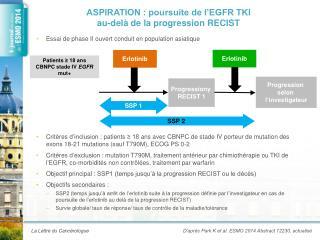 ASPIRATION : poursuite de l'EGFR TKI  au-delà de la progression RECIST