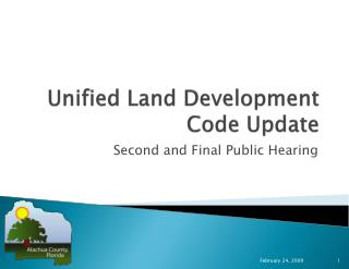 Unified Land Development Code Update
