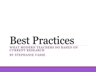 Highly Effective  Teaching Practices
