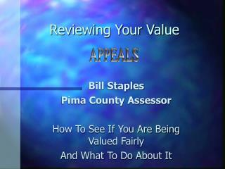 Reviewing Your Value