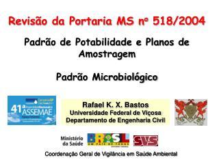 Rafael K. X. Bastos Universidade Federal de Vi osa Departamento de Engenharia Civil
