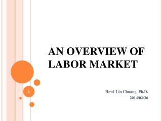 AN OVERVIEW OF  LABOR MARKET
