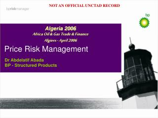 Price Risk Management