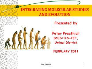 INTEGRATING MOLECULAR STUDIES  AND EVOLUTION