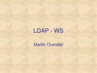LDAP - WS