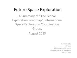 Future Space Exploration