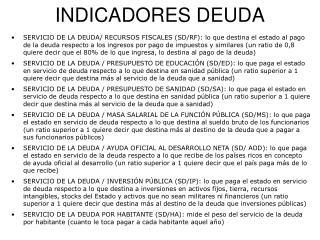 INDICADORES DEUDA
