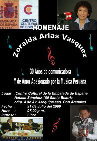 Zoraida Arias Vasquez