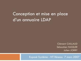 Cl�ment CAILLAUD  S�bastien HASSLER  Julien JORRY