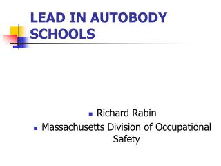 LEAD IN AUTOBODY SCHOOLS