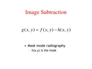Image Subtraction