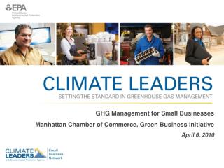 GHG Management for Small Businesses Manhattan Chamber of Commerce, Green Business Initiative