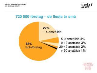 720 000 företag – de flesta är små