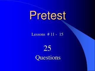 Pretest
