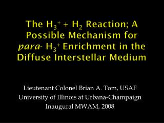 The H3  H2 Reaction; A Possible Mechanism for