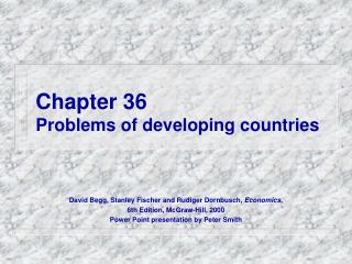 Chapter 36 Problems of developing countries