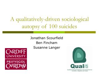 A qualitatively-driven sociological autopsy of 100 suicides