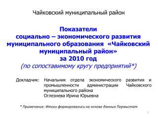 Чайковский муниципальный район