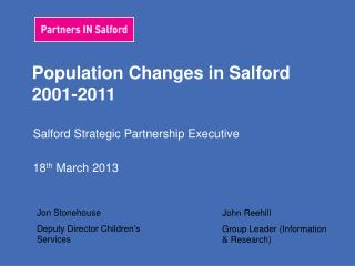 Population Changes in Salford 2001-2011