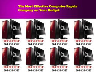 The Most Effective Computer Repair Company on Your Budget