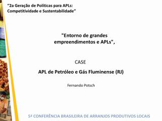 CASE  APL de Petr leo e G s Fluminense RJ