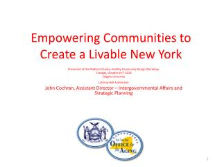 Empowering Communities to Create a Livable New York