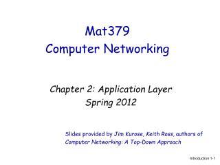 Mat379  Computer Networking