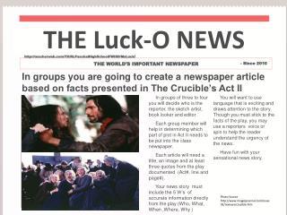THE Luck-O NEWS