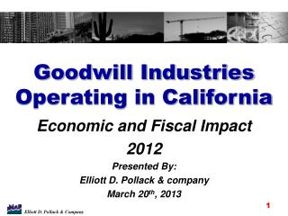 Goodwill Industries Operating in California