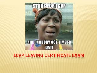 LCVP Leaving Certificate  Exam
