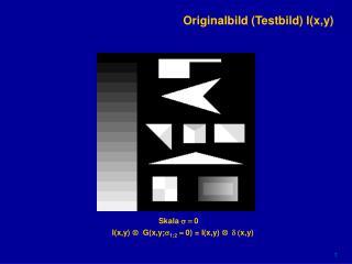 Originalbild (Testbild) I(x,y)