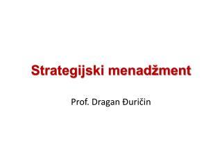 Strategijski menadžment