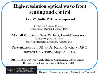 High-resolution optical wave-front   sensing and control